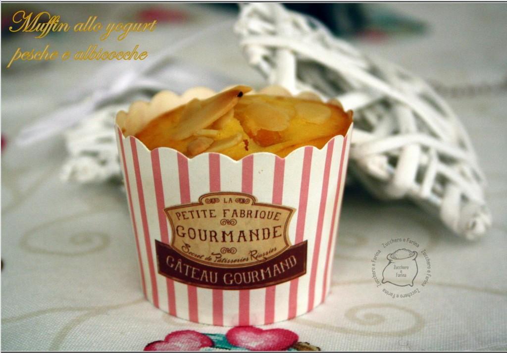 muffin allo yogurt pesche e albicocche