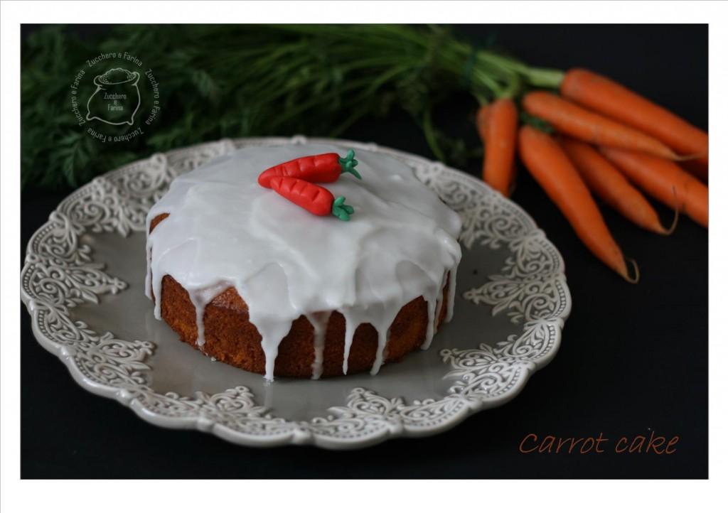 torta di carote glassata