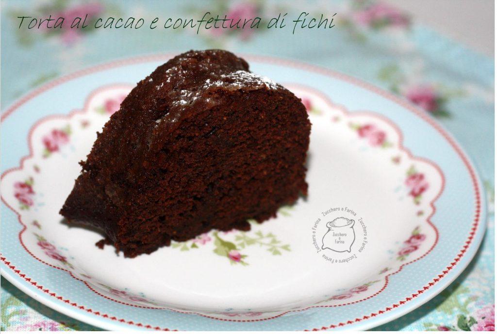 fetta torta confettura fichi