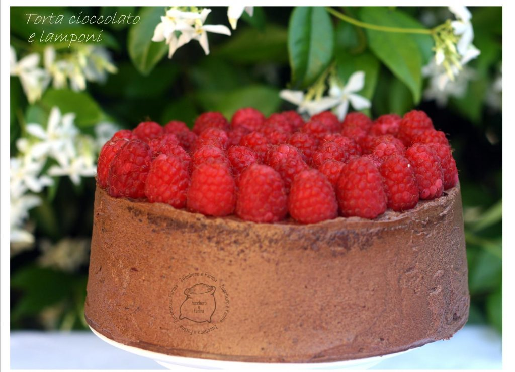 torta cioccolato e lamponi cr