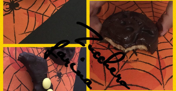 Biscotti ragnetto  teschio pipistrello, Happy Halloween