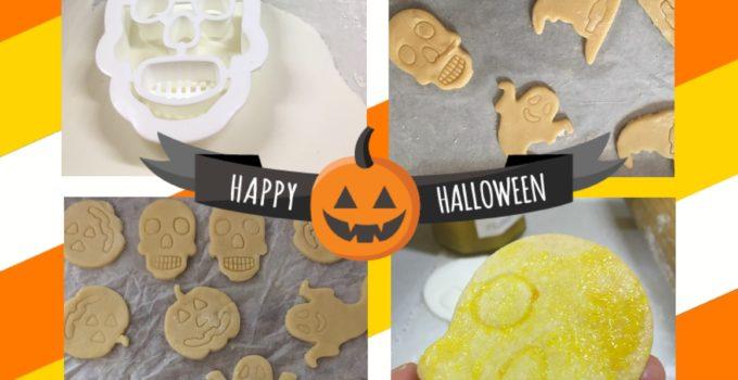 Biscotti di Halloween con la pasta di zucchero